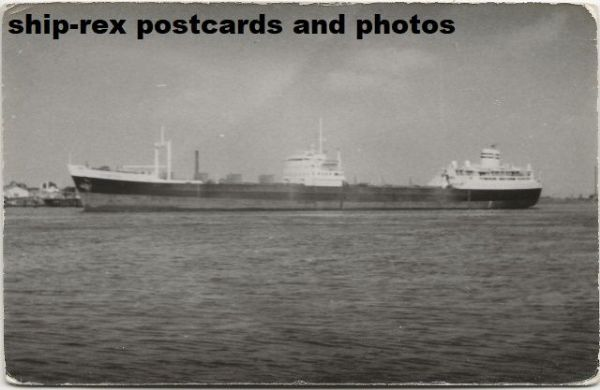 unidentified oil tanker, postcard